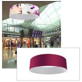 20ft Ceiling Banner Display Circle Hanging Sign with Stretch Fabric Graphics