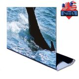 "US Stock-Whale Shape Good Quality Roll Up Banner Stand (33"" W x 79"" H) (Stand Only)"