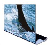 "Sample-Whale Shape Good Quality Roll Up Banner Stand (33"" W x 79"" H) (Stand Only)"