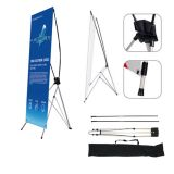 "24""W x 63""H Economy Aluminum Foot Tripod X Banner Stand (Stand Only)"