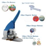 "2016 New Pro 2-1 / 4"" 58mm Button Maker Machine Badge Press + Pin Buttons + Fridge Magnets + Mirror Buttons with Key-Chain + Hanger Buttons + 1pc 58mm Circle Cutter"
