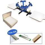 4 Color 2 Station Silk Screen Printing Machine 4-2 Press DIY&20x24 inch Aluminum Screen with 110 White Mesh