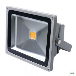 50Watt 12-24VDC Warm White LED Flood Light