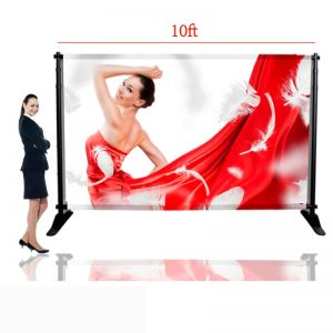 "10""W x 8""H Large Tube Step and Repeat Adjustable Backdrop Telescopic Banner Stand (Stand Only)"