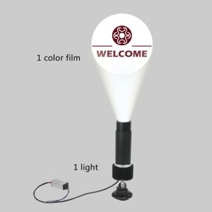 15W Black Desktop or Mountable LED Gobo Projector Advertising Logo Light (with Custom 1 Color Static Glass Gobos)