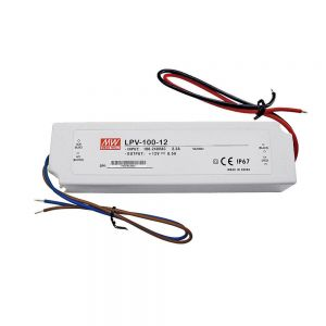 100W 12V8.5A IP67 LED Meanwell Plastic Waterproof  Power Supply