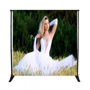 8 x 10ft Step and Repeat Adjustable Backdrop Telescopic Banner Stand with Plastic Nut (Local Pick-Up)