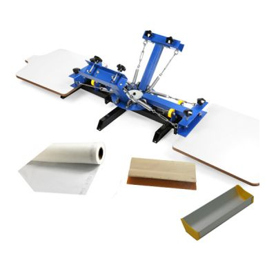 CALCA 4 Color 2 Station Silk Screen Printing Press, for DIY T-Shirt Printing