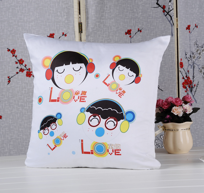 Plain White Sublimation Blank Pillow Case Fashion Cushion Cover