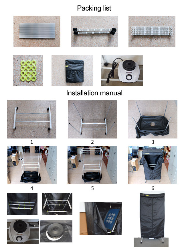 110V / 220V 1200W Simple Type Silkscreen Drying Cabinet Assembly Curing Screen Tool Shading Light