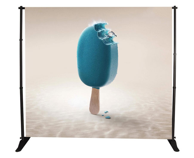 8 x10ft Step and Repeat Adjustable Backdrop Telescopic Banner Stand(Stand Only)