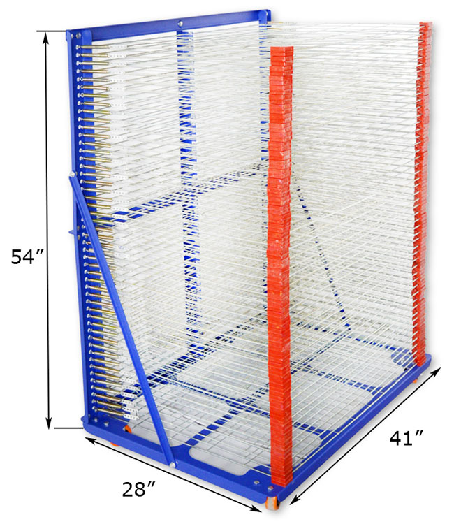 Screen Printing Movable Drying Rack Details