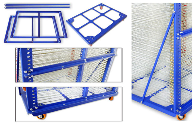 Screen Printing Movable Drying Rack
