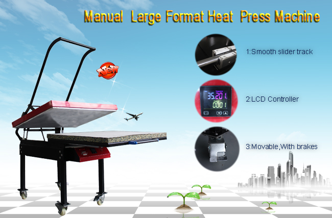 Large Format T-shirt Sublimation Heat Press Machine, 220V Three-phase Power