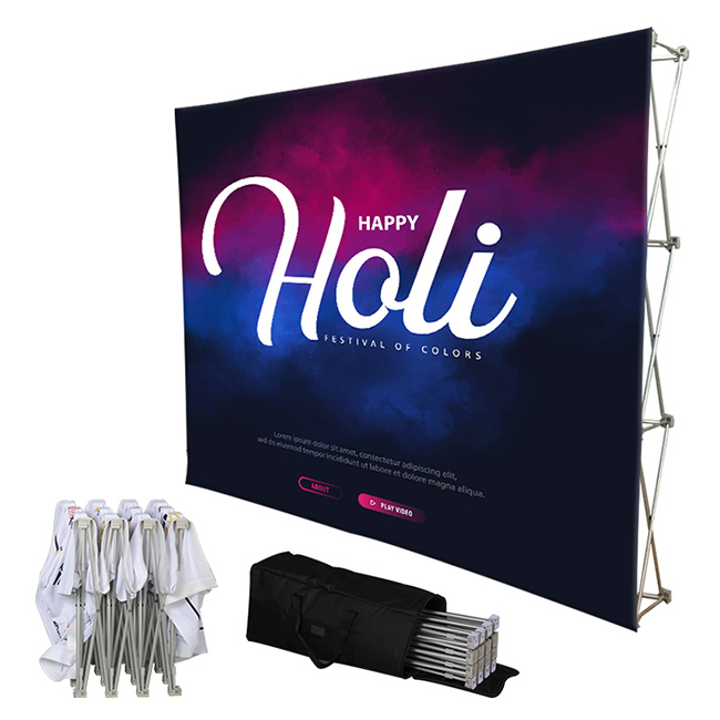 Tension Fabric Pop Up Display Backdrop Stand